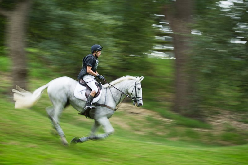Galloping at Burghley Horse Trials